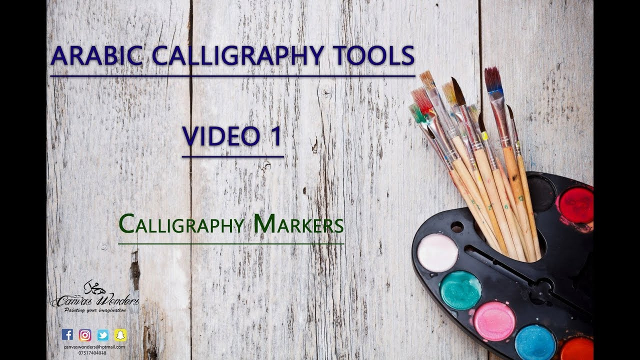 Tools i use for arabic calligraphy video calligraphy markers