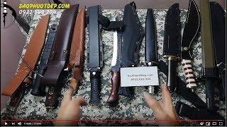 Đập hộp hơn chục mẫu Dao Găm, Đao, Lưỡi Lê, Dao Bấm mới cực chất chỉ có tại shop Daophuotdep.com