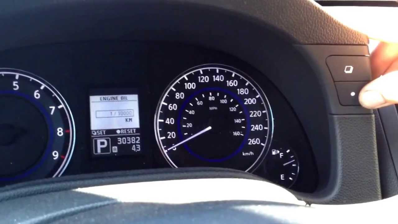 Nissan Infiniti Oil Service Reset Youtube