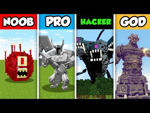 NOOB vs PRO vs HACKER vs GOD : CRAZY MOB CHALLENGE in Minecr