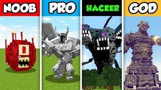 NOOB vs PRO vs HACKER vs GOD : CRAZY MOB CHALLENGE in Minecraft! (Animation)