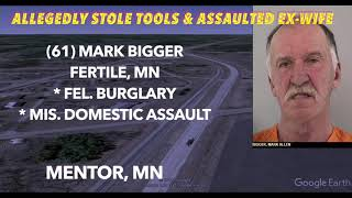 Fertile, MN Man Allegedly Stole Tools & Assaulted Ex-Wife