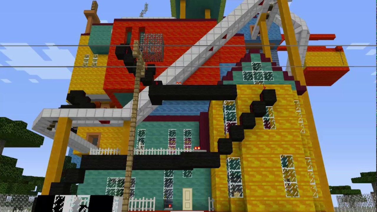 Hello Neighbor Minecraft Unused Maps Youtube