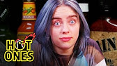 Billie Eilish Freaks Out While Eating Spicy WingsHot Ones