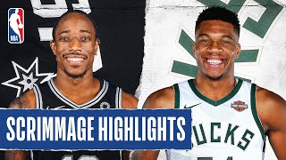 SPURS at BUCKS | SCRIMMAGE HIGHLIGHTS | July 23, 2020