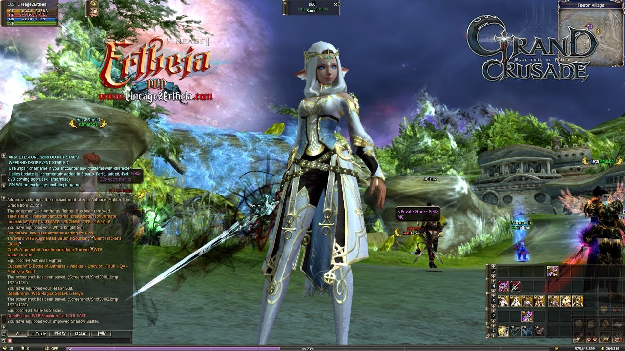 Grand Crusade Lineage 2 ALL New Armors On Races