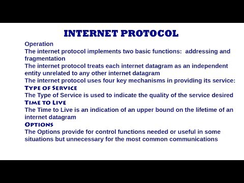 Internet Protocol IP - Introduction