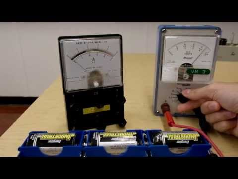 Using the analog voltmeter and the analog ammeter