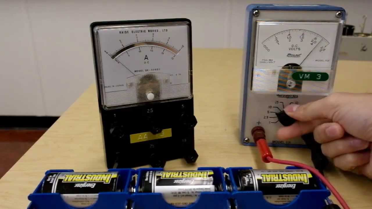 Hooking Up Voltmeter And Devices : Using the analog voltmeter and ammeter youtube