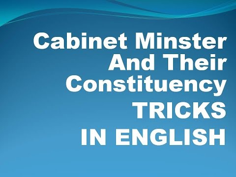 Cabinet Minister And Their Constituency With Simple Tricks In English
