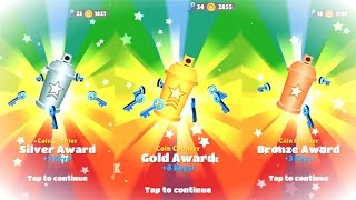 Coin Counter Bronze, Silver, and Gold Awards on Subway Surfers!