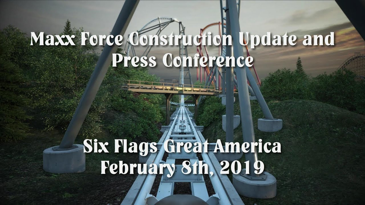 Six Flags Great America Maxx Force Construction Update - February