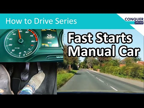 How to move a manual car quickly from a standstill - fast starts.