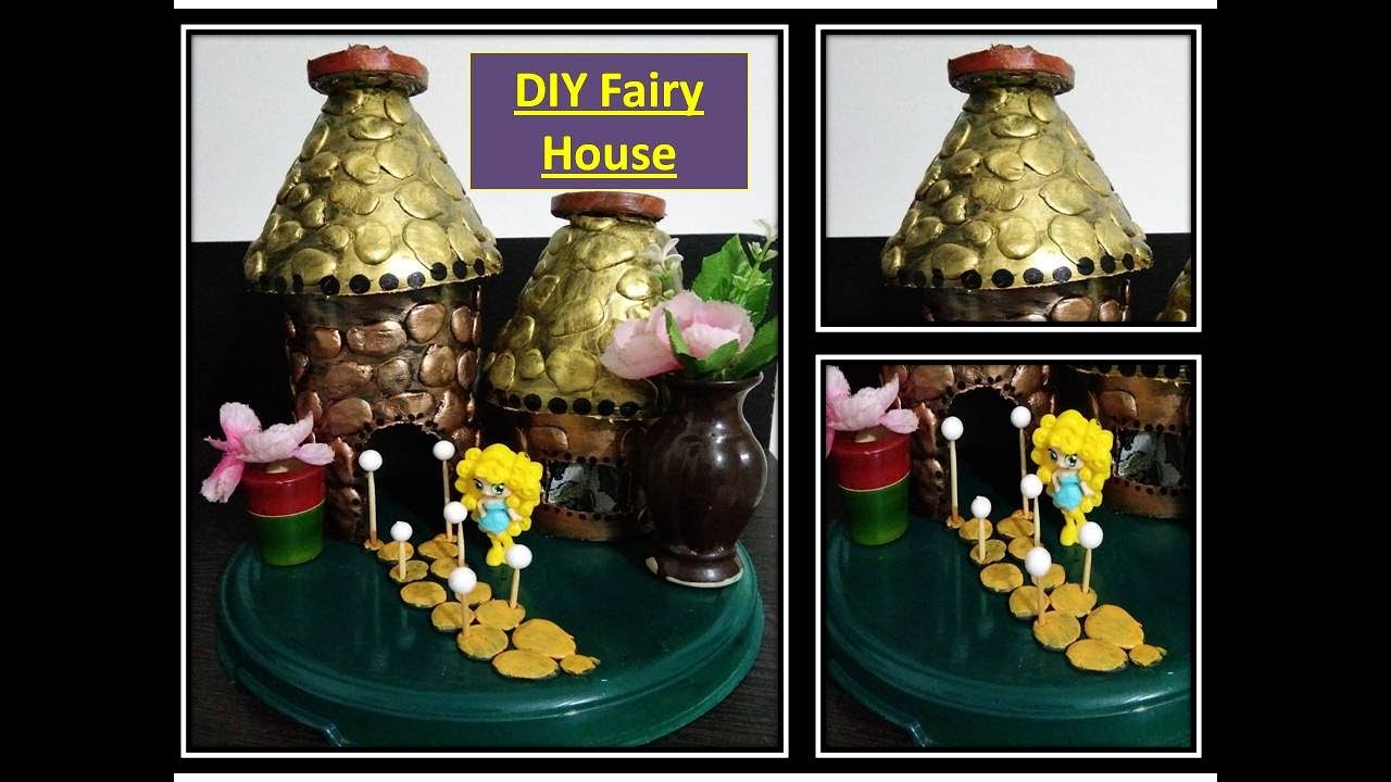 DIY, fairy house out of waste material  recycling craft ideas