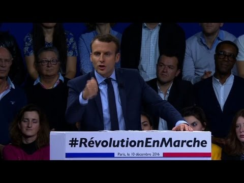Présidentielle: premier grand meeting d'Emmanuel Macron