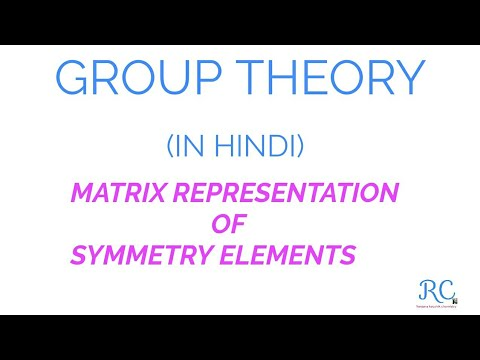 MATRIX REPRESENTATION OF SYMMETRY ELEMENTS