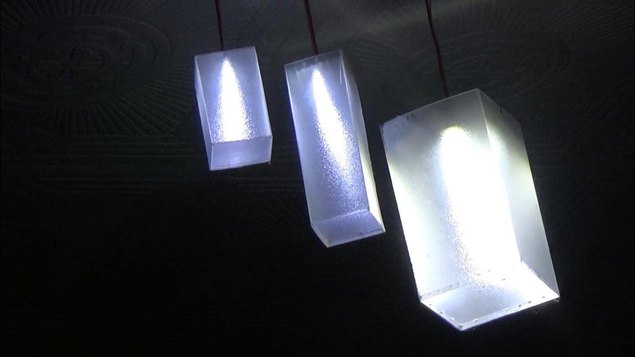 Membuat Lampu Gantung Sudut Plafon Dari Led 2