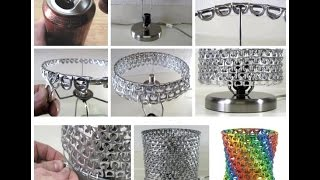 35 Ideas de manualidades con anillas de latas