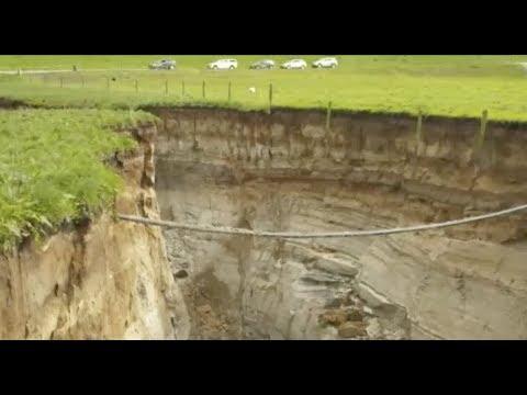 "Breaking: ""New Zealand Massive Sinkhole Biggest Ever"""