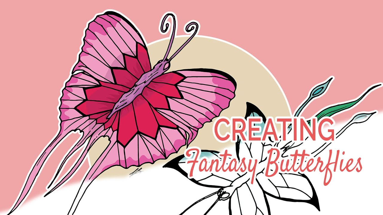 Creating Fantasy Butterflies | From Paper to Digital