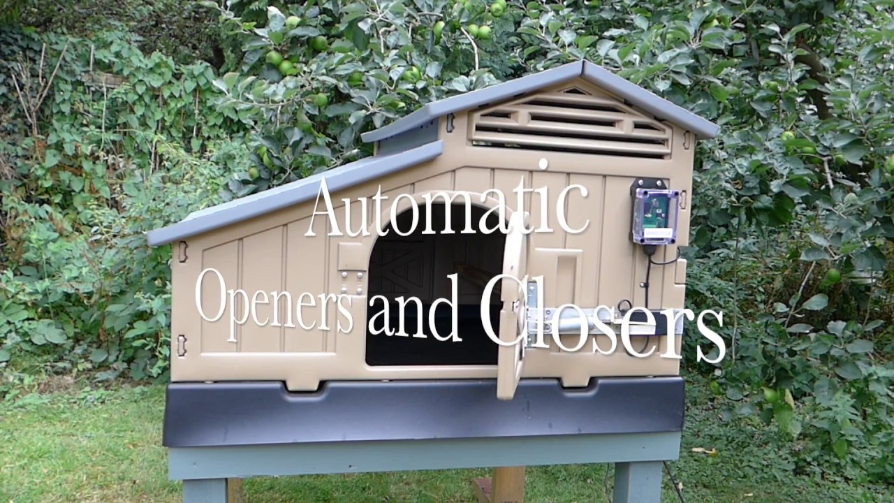 snap lock formex and clever coop company chicken coop automatic opener closer hentronix the best automatic chicken coop door openers [ 1280 x 720 Pixel ]