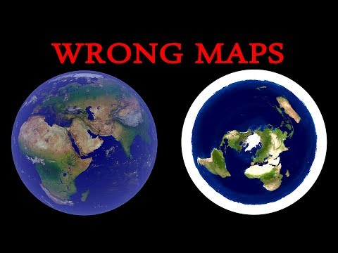 The earth is neither flat nor a globe   This is how they have drawn the flat earth map   tutorial   thumbnail