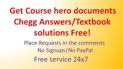Course Hero Documents For Free