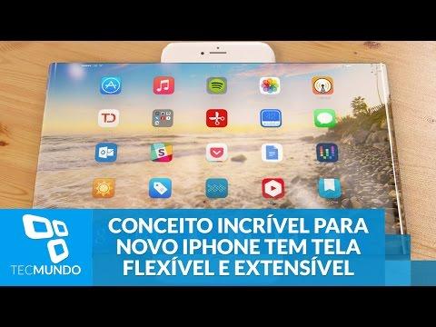 Conceito Incrível Para Novo IPhone Tem Tela Flexível E Extensível