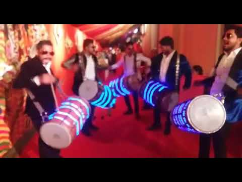 Led Dhol for Baraat Welcome 09891479771 Dhol Wedding for Entrance and DJ beats