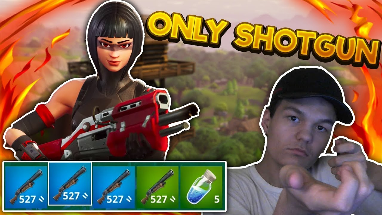 ONLY SHOTGUN CHALLENGE! - DANSK FORTNITE