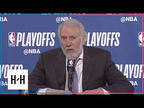 Gregg Popovich Postgame Press Conference | Spurs vs Warriors - Game 2 | 2018 NBA Playoffs