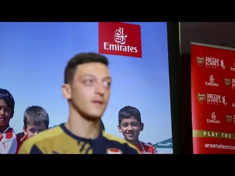 Mesut Özil brings football fever to Dubai | Emirates Airline