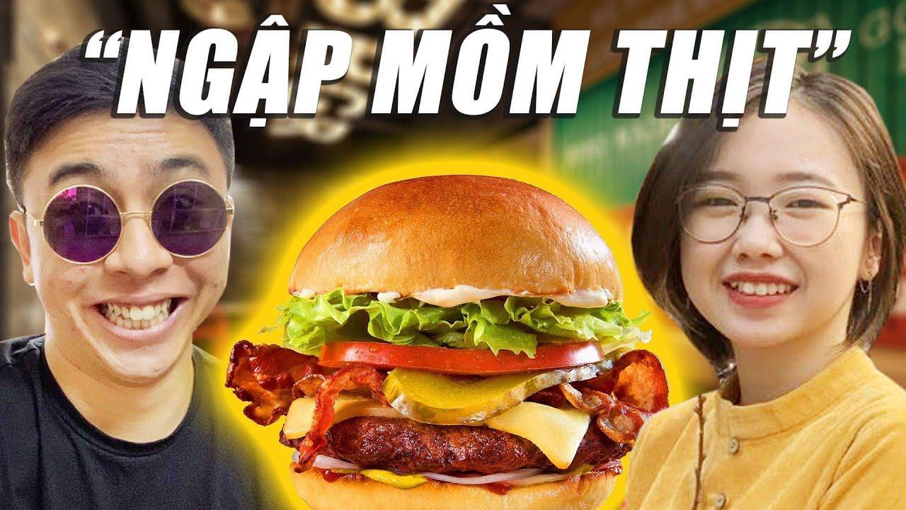 #DailyVlog | Đây là quán burger NGON NHẤT Hà Nội! (ft Mi) | Tân 1 Cú