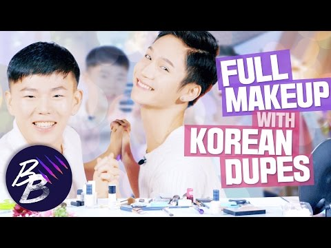 E9💋 Korean dupes for high end makeup with Youngguk || Beauty Beasts