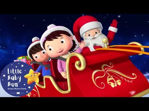 Wheels On The Sleigh   Christmas Songs For Kids   +More Nursery Rhymes   Little Baby Bum   Christmas