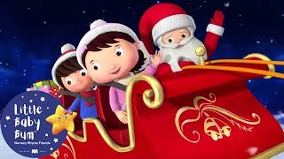 Wheels On The Sleigh | Christmas Songs For Kids | +More Nursery Rhymes | Little Baby Bum | Christmas