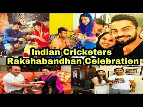 Indian Cricketers Virat Kohli, Virender Sehwag , Raina & Others Celebrate Rakshabandhan _D-Cricket
