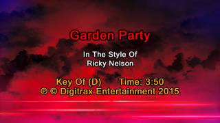 Ricky Nelson - Garden Party (Backing Track)