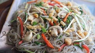 Sweet Potato Noodles Stir-fry With Dried Scallop (bun Xao So Diep)