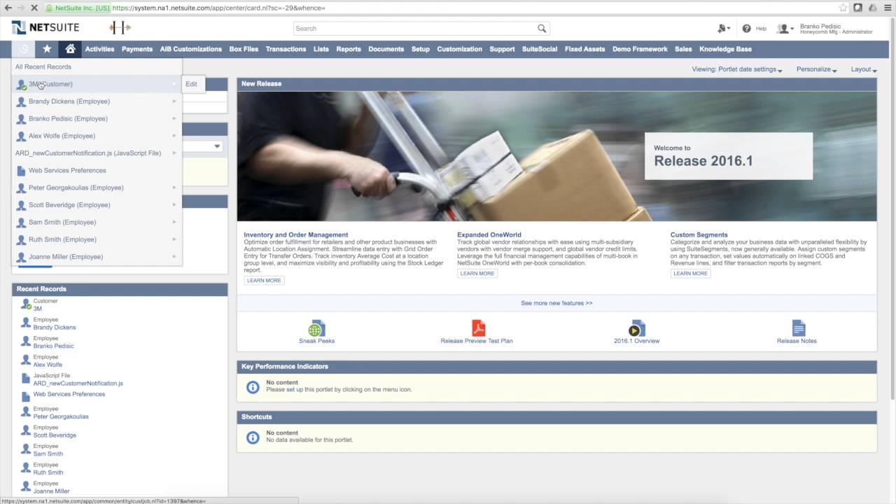 Tutorial: NetSuite SuiteScript, New Customer Notification