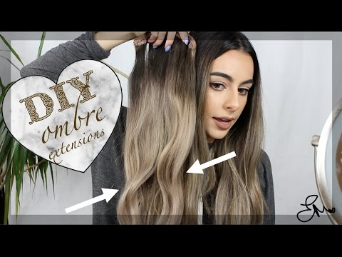 Diy Ombre Ash Blonde Extensions At Home Youtube