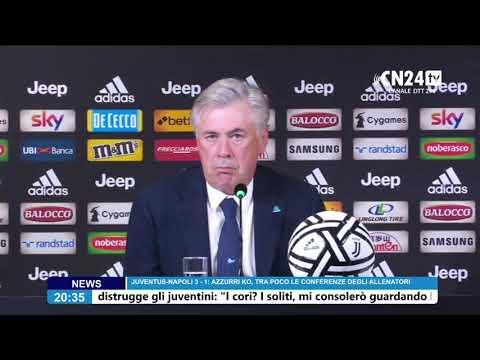Juventus-Napoli 3-1, Ancelotti in conferenza stampa post-partita