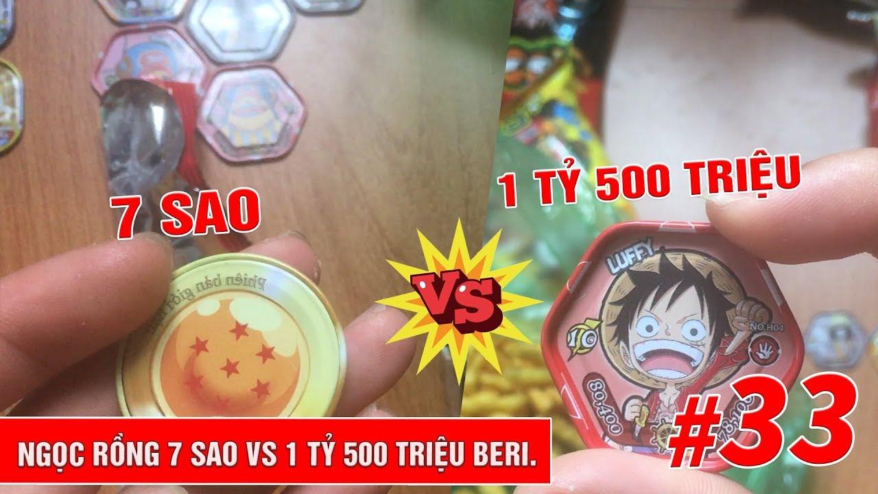 Viên Ngọc Rồng 7 sao vs Luffy truy nã 1 tỷ 500 - Toonies Ngọc rồng đối đầu  Toonies One Piece tập 33