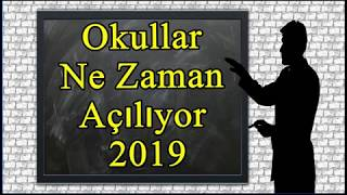 Okullar Ne Zaman Açılıyor 2019  Ara Tatiller