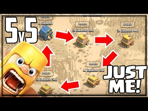 CLAN WAR WITH MYSELF! 5v5 In Clash Of Clans!