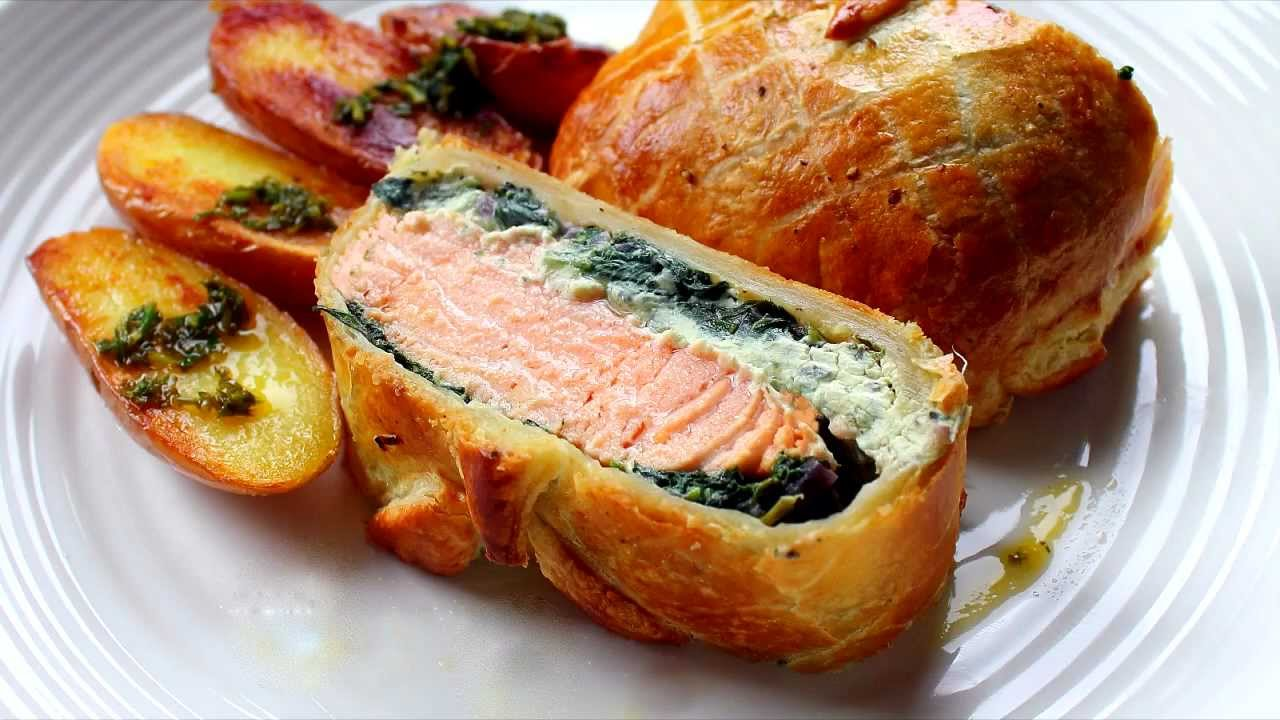 Salmon En Croute Recipe Youtube