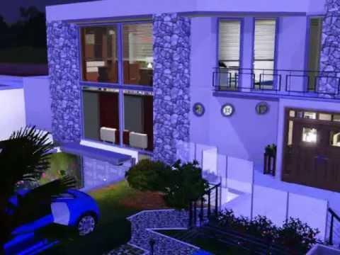A casa mais bonita do the sims youtube for Casa moderna sims 3 sin expansiones