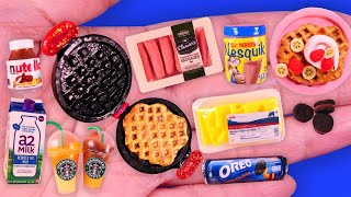 20 Easy DIY Miniature Food and Drinks Barbie Idea~ Mini Waffle Maker and More