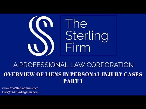 OVERVIEW OF LIENS IN A PERSONAL INJURY CASE - PART 1
