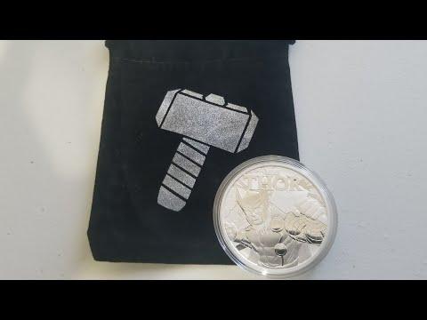 2018 Tuvalu Thor 1 oz Silver Marvel Series Coin